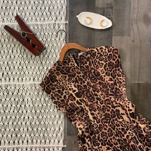 Zara Leopard Print Body Con Dress